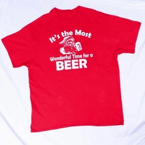 It's The Most Wonderful Time for Beer Santa Shirt
